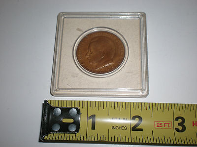 Dag Hammarskjolds Minnespenning 1905-1961 Peace Keeping Medal UN Coin Round Old 2