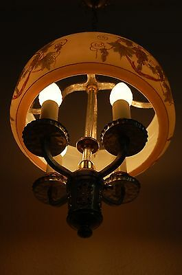 Art Deco Lightolier Grape Cluster Chandelier Pendant 7