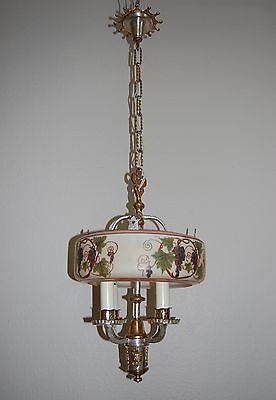 Art Deco Lightolier Grape Cluster Chandelier Pendant 6