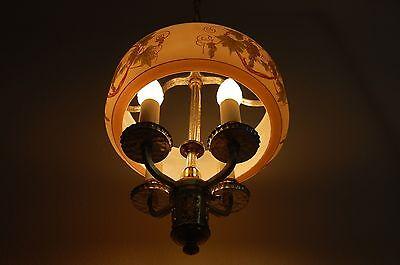Art Deco Lightolier Grape Cluster Chandelier Pendant 8