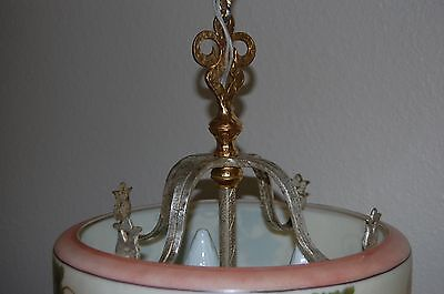 Art Deco Lightolier Grape Cluster Chandelier Pendant 10