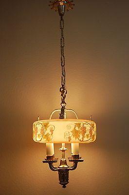 Art Deco Lightolier Grape Cluster Chandelier Pendant 3