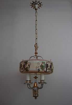 Art Deco Lightolier Grape Cluster Chandelier Pendant 2