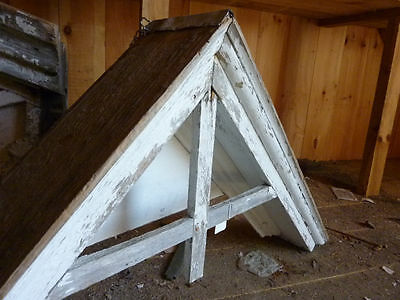 "c1870 VICTORIAN peaked window pediment gable 56 x 28"" 2"