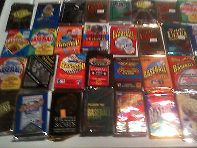 BEST PACK DEAL---- Huge Lot of VINTAGE Baseball Cards in UNOPENED Packs