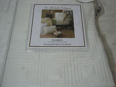 Beatrice Home Fashions Medallion Chenille Pillow Sham Standard Ivory