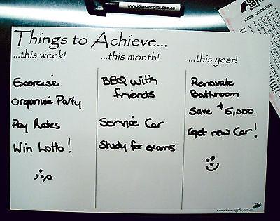 A4 Whiteboard +5pen Monthly Weekly Organiser Family Office Planner Fridge Magnet 8