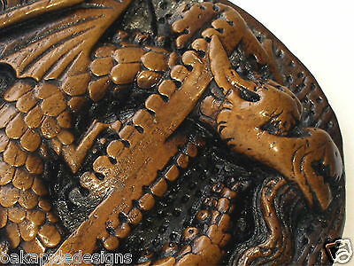 Celtic Dragon Mythical creature Reproduction Medieval Church Carving Gothic gift 2