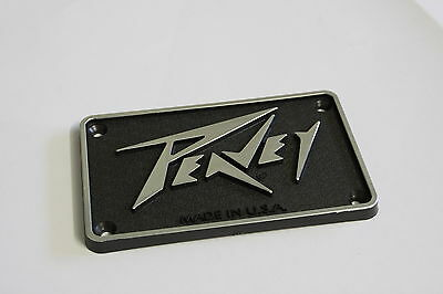 "PEAVEY Rectangular Plastic Logo Badge 3-7/8"" (98mm) x 2-3/8"" (60mm)"