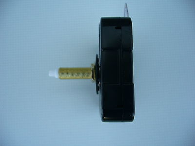 High Torque Clock Movement Extra Long Spindle Black 230Mm  French Spade Hands 5