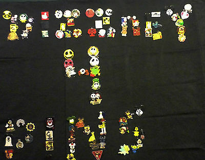 Disney Pins 60 Different Pins Mixed Lot Fast Usa Seller