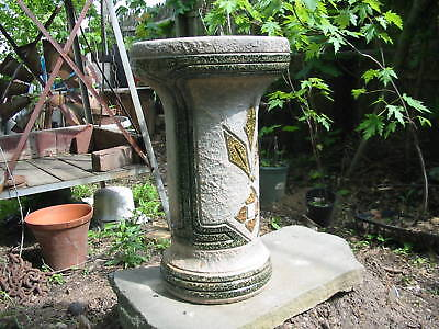 1915 Mostique Roseville Pedestal 18 inches tall 98 years old excellent worth it! 2
