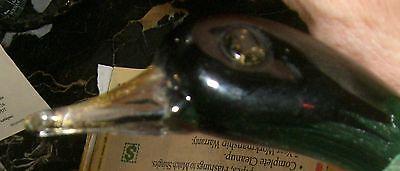 Murano blown  Glass Bird figurine Italian 1950's 12