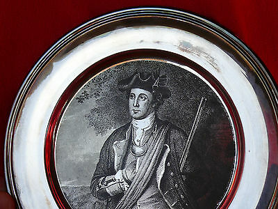 Vintage S Kirk & Son Collection AMERICAN COLONIAL SOLDIER Sterling Silver Plate 2