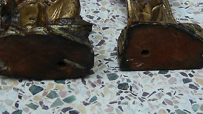 Pair Antique 18C Chinese Rosewood Hand Carved Quan-Yin And Buddha Statues 3
