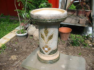 1915 Mostique Roseville Pedestal 18 inches tall 98 years old excellent worth it! 4