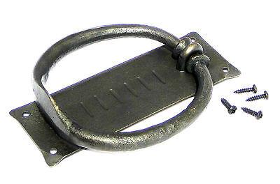 Hand Forged Door Knocker Black Wrought Iron Blacksmith Rustic Antique Hardware 4