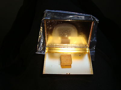 Vintage Brass Compact from 1970 *** NEVER  FILLED-Authentic Made In U.S.A 6