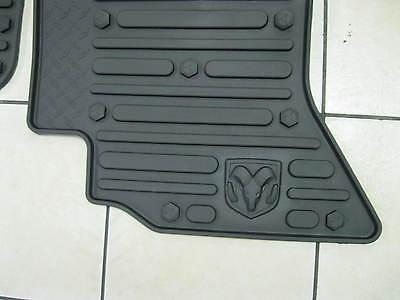 2011 2012 Dodge Ram 1500 2500 3500 Slush Mats Slate Crew Cab Front Mopar Factory