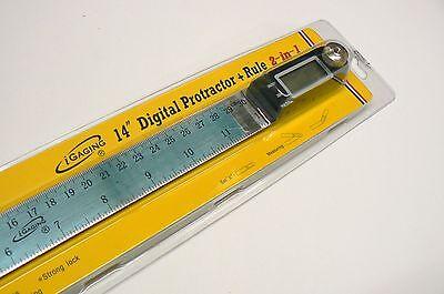"""iGaging 14"""" Digital Protractor Goniometer Miter Gauge Electronic Angle Finder 2"""