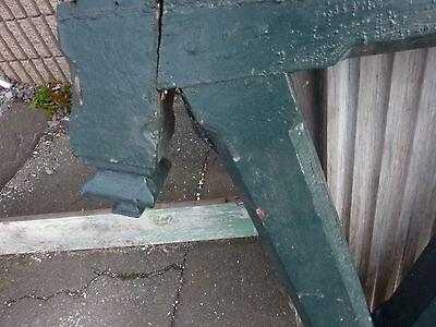 "Single - ANGLED victorian mission style corbel BRACKET w/FINIAL 37.5 x 23 x3.75"" 2"