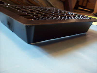 "No Fins Simple honeycomb heating grate cast iron 10"" x 12"" insert (G 384) 3"