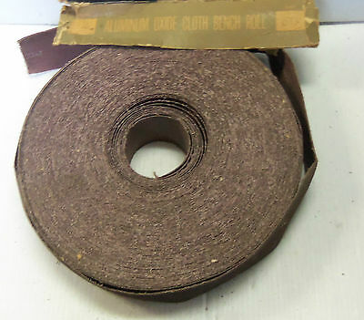 """New Michigan Abrasive Co. Aluminum Oxide Abrasive Cloth Bench Roll 2"""" 50Grit A/O 2"""