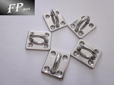 Pontet inox Sur Platine 40x35mm ( Lot de 5 ) inox