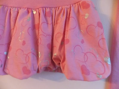 NEW GIRL'S DRESS & LEGGINGS SET PUFF SKIRT with PRINT and DIAMANTE Age 4 -10 YRS 3