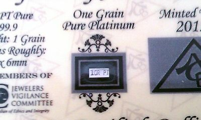 (2 Pack) OF ACB Platinum 1GRAIN SOLID BULLION MINTED BAR 99.9 Pure PT W/ COA +