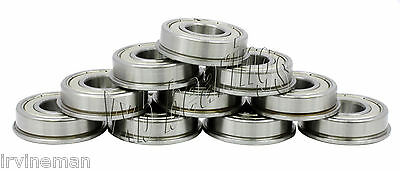 "Stainless Steel FLANGED Ball Bearing 1//4/"" x 1//2/"" x 3//16/"" 10 PCS SFR188zz"