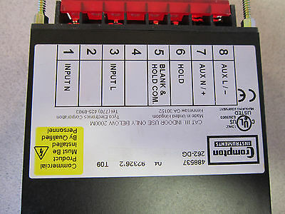 Crampton Voltmeter 262-DG/ 488537 120V Crampton Instruments NSN 6625015387063 3