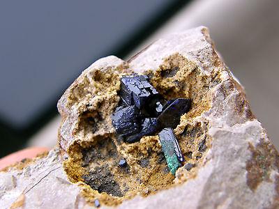 """Minerales"""" Extraordinario Cristal De Azurita Con Malaquita Marruecos - 9A13 """" 2"""