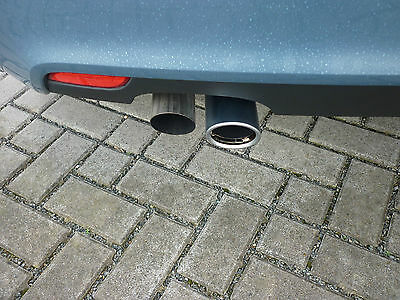 Original Audi Endrohrblenden/Auspuffblenden Audi A1/Audi A3,doppelt in matt,NEU
