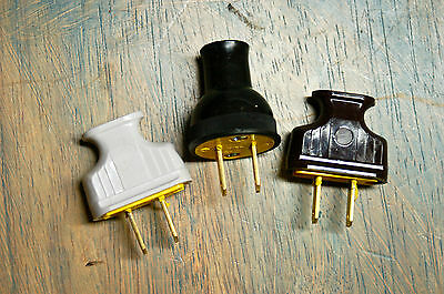 8' Twisted Cloth Covered Wire & Plug, Vintage Light Rewire Kit, Lamp Cord, rayon 5