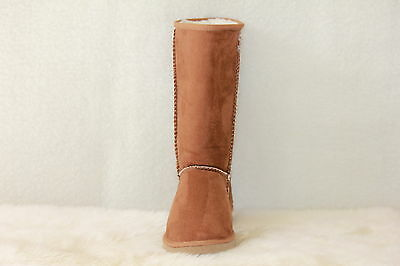 Ugg Boots Tall, Synthetic Wool, Size 10 Lady's/Size 8 Mens, Colour Chestnut