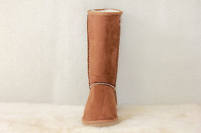 Ugg Boots Tall, Synthetic Wool, Size 4 Lady's, Colour Chestnut
