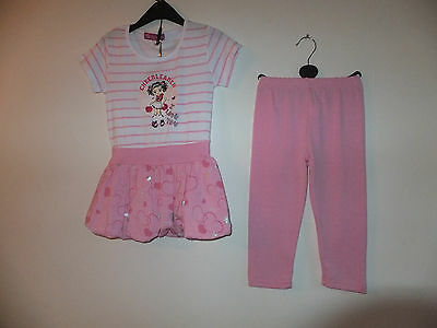 NEW GIRL'S DRESS & LEGGINGS SET PUFF SKIRT with PRINT and DIAMANTE Age 4 -10 YRS 4