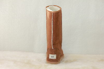 Ugg Boots Tall, Synthetic Wool, Men's Size 9 Colour Chestnut 3