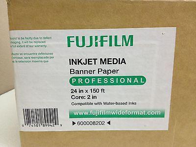 "Fujifilm Inkjet Banner Paper 24"" x 150ft Roll 3"" Core Epson Stylus Pro 600008202 2"