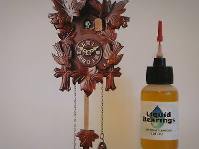 Liquid Bearings, w/XL needle, BEST 100%-synthetic oil for antique cuckoo clocks! 2