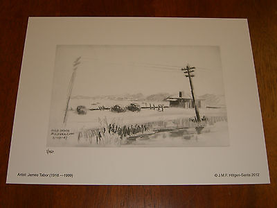 Litho Ltd Ed Prnt 1//150 Bedell/'s Shipyard 2,Stratford,CT;7//12//47Sketch-J.Tabor,