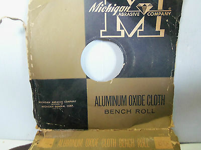 """New Michigan Abrasive Co. Aluminum Oxide Abrasive Cloth Bench Roll 2"""" 50Grit A/O 3"""