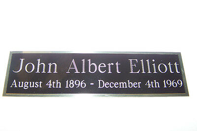 Engraved Nameplate Custom Plaques  Display Cases *blackbrass Not Aluminum* 5