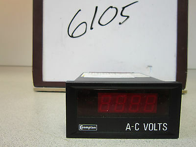 Crampton Voltmeter 262-DG/ 488537 120V Crampton Instruments NSN 6625015387063 5