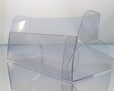 NEW ITEM! 2 Clear Economy Postcard tabletop display holder stand Holds 6 w x 4 h 2