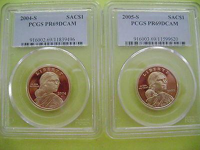 2000-2011 Sacagawea-Native American Pcgs Pr69Dcam 12-Coin Dollar Proof Set 4