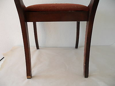 Antique Needle Point Chair with Carved Eagle on Back 11