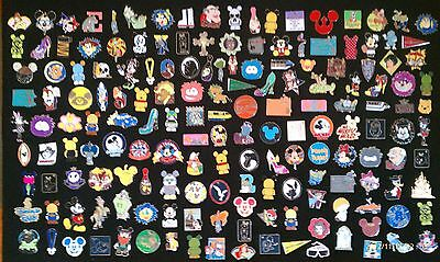 Disney Trading Pins-Lot of 25-No Duplicates-LE-HM-Rack-Cast-Free Shipping-A