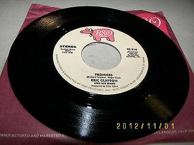 Eric Clapton & His Band Promises / Watch Out For Lucy 45 NM RSO RS910 1978 2